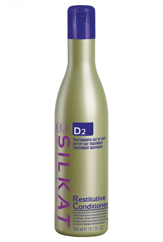 BES Silkat D2 Restitutive Conditioner - regenerační kondicioner na vlasy 300 ml